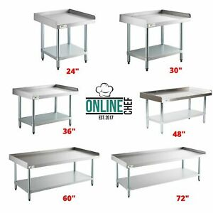 Stainless Steel Work Prep Tables Commercial Equipment Stand Undershelf 16 Gauge