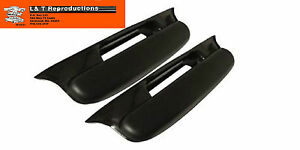 1957 Chevy Belair Black Arm Rest Complete New Plastic Belair Hardtop Sedan Wagon