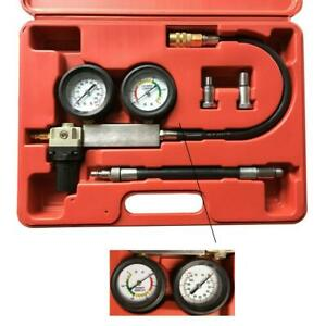 Cylinder Leakage Tester Kit Automotive Tool Gauge Detector Engine Leak Down