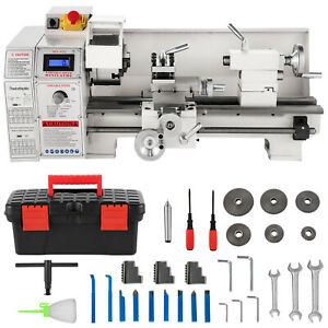 8 x16 Mini Metal Lathe Variable Speeds 2250 Rpm 1 1kw Metalworking Machine