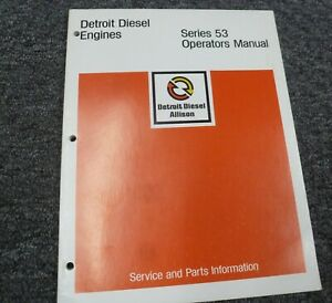 1979 1982 Detroit Diesel 3 53 4 53 6v 53 Engine Owner Operator Manual 1980 1981