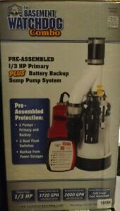 The Basement Watchdog Combo 1 3hp Primary battery Backup Sump System Dfk961 New