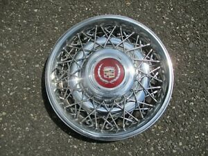 1986 To 1992 Cadillac Fleetwood Brougham Wire Spoke Hubcap Wheel Cover Factory