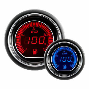 Prosport Evo Series 52mm Blue Red Universal Fuel Level Gauge