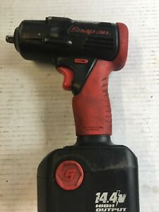 Snap On 14 4v 3 8 Drive Cordless Impact Wrench battery Works Great 0009
