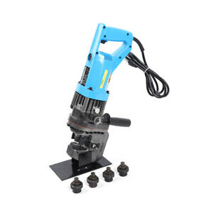 110v 10t Electric Hydraulic Hole Punch Iron Steel Plate Puncher Press Machine Us