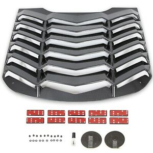 Fits 2015 2020 Ford Mustang Rear Window Louver Cover Sun Shade Abs