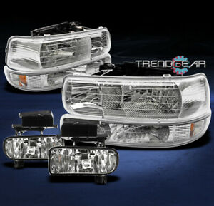1999 2002 Silverado 2000 2006 Tahoe Suburban Crystal Head Lights bumper fog Lamp