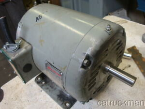 1 Hp 1750 Rpm 3 Ph Clausing Motor Made By Baldor