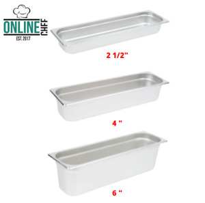 Stainless Steel Anti Jam Buffet Steam Table Pans Nsf 24 Gauge Rectangle Silver