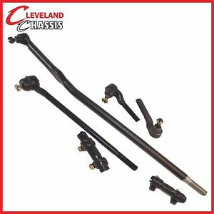 6 Pc Kit Ford F250 Hd 95 97 4wd Sleeves Center Drag Link Outer Tie Rod End