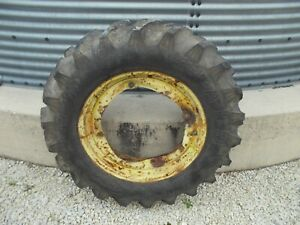 1 John Deere Jd M Wavey Rim 11 2 X 24 Armstrong Tractor Tire 95 Tread Right
