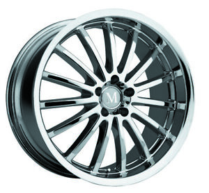 Mandrus Millenium Rims Wheels For Mercedes 19x9 5 5x112 Chrome 1 Each