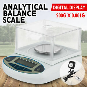 Analytical Balance 200 X 0 001 G 1 Mg Digital Precision Scale For Lab Jewellery