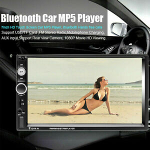 7 double 2din Car Mp3 Mp5 Radio Player Navi Touch Bluetooth Aux