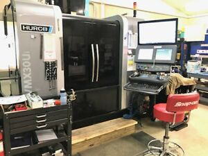 Used Hurco Vmx30ui 5 axis Cnc Vertical Mill 2015 12000 Rpm Tsc Probes Chip