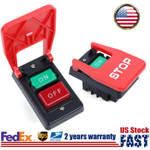 Magnetic On off Push Button Switch W Emergency Stop Cover For Industrial Device