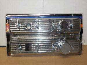 Center Bolt Chevy Engine Dress Up Kit Chrome Valve Covers Pvc Breather 5428
