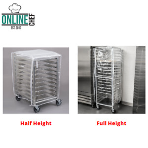 End Load Bun Sheet Pan Racks With Cover Aluminum 12 Pans Nsf Silver Unassembled