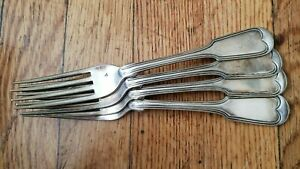 4 Antique Vintage Collectible Serving Forks 7 75 Hall Elton Silver Plate