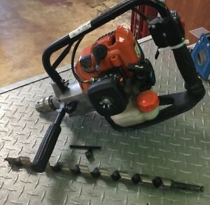 Echo Edr 260 Edr260 Gas Drill Forward Reverse Nice Great Price With Bit