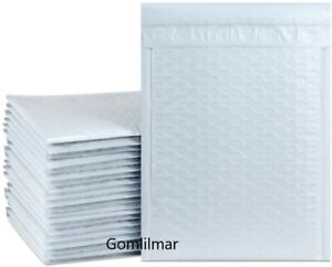 2 8 5x12 White Color Poly Bubble Envelopes Mailers Bags Padded Free Shipping