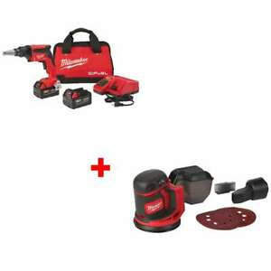 Milwaukee 2866 22 M18 Drywall Screw Gun Kit W Free 2648 20 M18 Orbit Sander