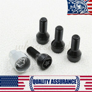 5 New Wheel Lock Set Anti Theft Lug Nuts Bolt For Bmw 36136792851