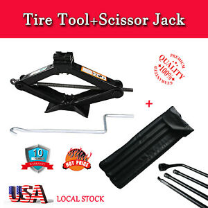 Car Truck Steel Garage Tire Wheel Lug Wrench Scissor Jackhandle Lift Wrench Tool