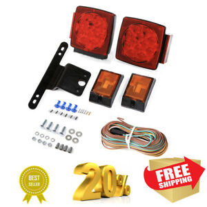 12v Led Trailer Light Kit Utility Rv Wiring Stop Turn Tail Side Marker Under 80