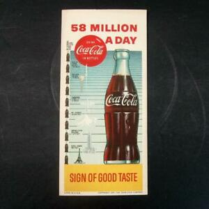 1957 Original Coca Cola Ink Blotter 58 Million A Day Very Good Condition Dated