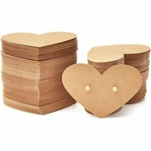 300pack Heart Shaped 2 5x1 75 In Earring Holder Cards For Display Jewelry Bulk