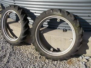 Allis Chalmers G Tractor 7 2 X 30 30 Good Year Tread Tires Tire Ac Rims Rim
