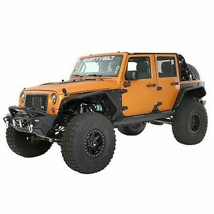 Smittybilt Xrc Flux Flares Front rear Tube Fenders For Jeep Jk Wrangler 07 18
