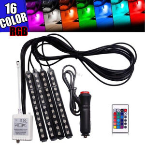 Rgb Led Glow Car Interior Lamp Under Dash Footwell Seats Inside Lighting