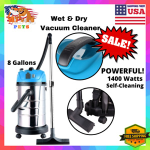 Bagless Powerful Wet dry Vacuum Cleaner Home industrial Wheel Hose Attachments