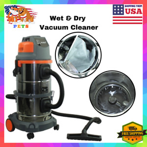 Industrial Wet Dry Vacuum Cleaner Bagless 6 Gallons Powerful With Wheel Filter
