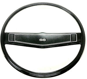 1970 Chevelle Ss Steering Wheel Black Correct Madrid Grain Nova Impala