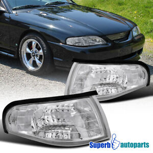 For 1994 1998 Ford Mustang Svt Gts Gt Corner Lights Turn Signal Lamps