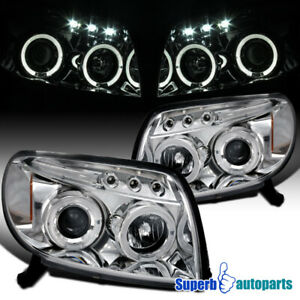 For 2003 2005 Toyota 4runner Led Halo Projector Headlights Lamps Replacement