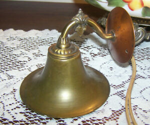 Vintage Antique Brass Wall Light Sconce French Art Noveau For Repair