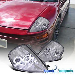 For 2000 2005 Eclipse Dual Halo Projector Headlights Lamps Lamps Replacement