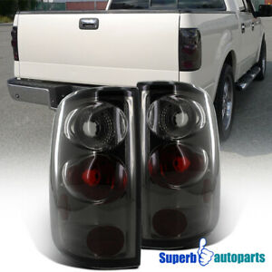 For 2004 2008 Ford F150 Styleside Replacement Tail Lights Smoke Pair