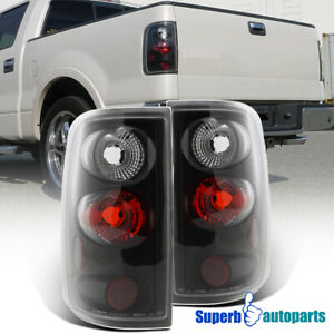 For 2004 2008 Ford F150 F 150 Styleside Black Tail Lights Brake Lamps Pair