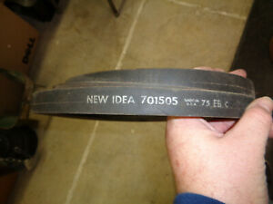 New Idea 701505 Drive Belt Power Unit Baler Binder Spreader Hay Rake