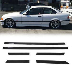 For Bmw 1992 1998 E36 M3 Coupe 2d Body Side Molding Door Moulding Trim
