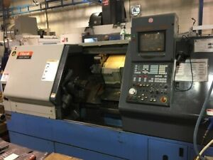 Used Mazak Quick Turn 30 Cnc Lathe 1996 10 Chuck Tailstock Tool Eye Chip