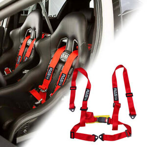 Adjustable 2 Inch 4 Point Racing Car Harness Seat Belt Safety Strap For Jdm