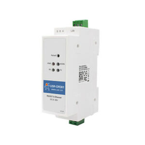 Din Rail Rs232 Serial To Ethernet Converter Support Modbus Rtu To Tcp Module
