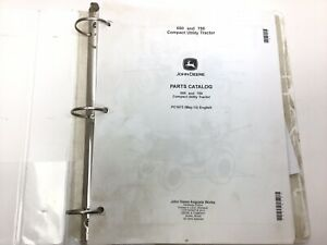 John Deere 650 750 Compact Utility Tractor Parts Catalog Stock 5gg